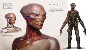 Концепт-арт девушки расы Бета