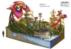 Концепт-арт окружающей среды планеты Девять
