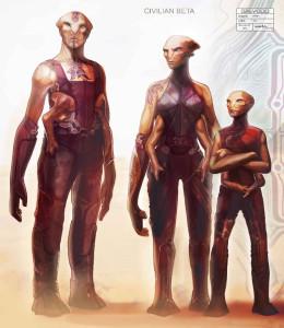 Концепт-арт граждан расы Бета